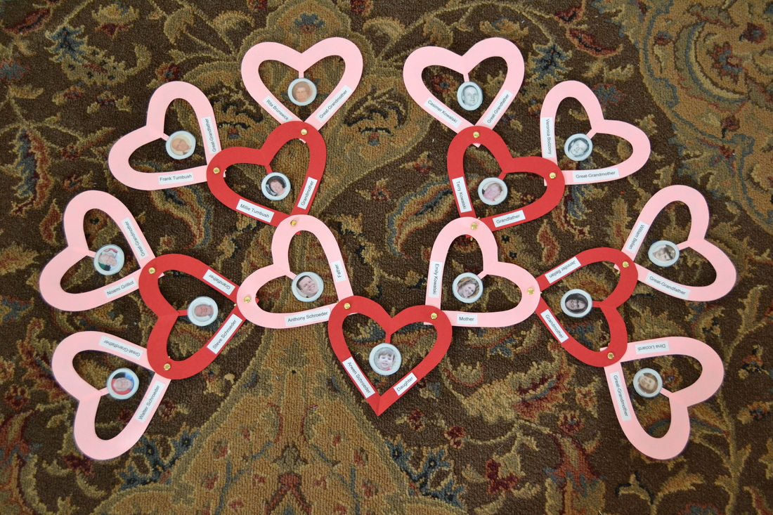 Heart Family Tree // GrowingLittleLeaves.com