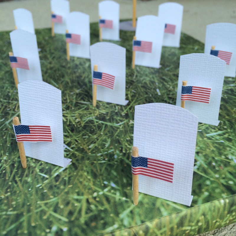 Helping Kids Understand Memorial Day - National Cemetery Diorama from GrowingLittleLeaves.com