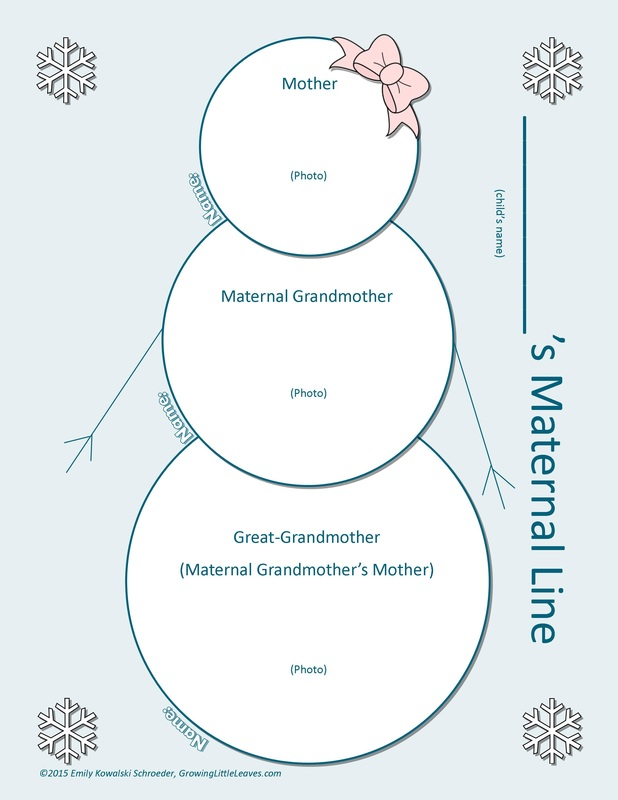 Maternal Line Snowman FREE Worksheet // GrowingLittleLeaves.com