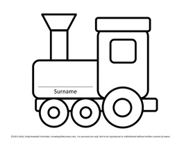 Surname Train FREE Printable from GrowingLittleLeaves.com