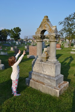 Cemetery Freestyling with Kids from GrowingLittleLeaves.com