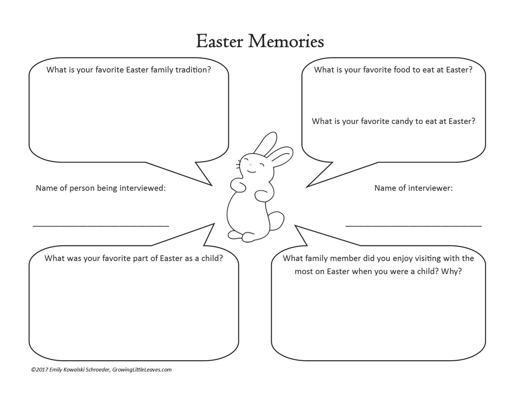 Easter Memories Interview from GrowingLittleLeaves.com