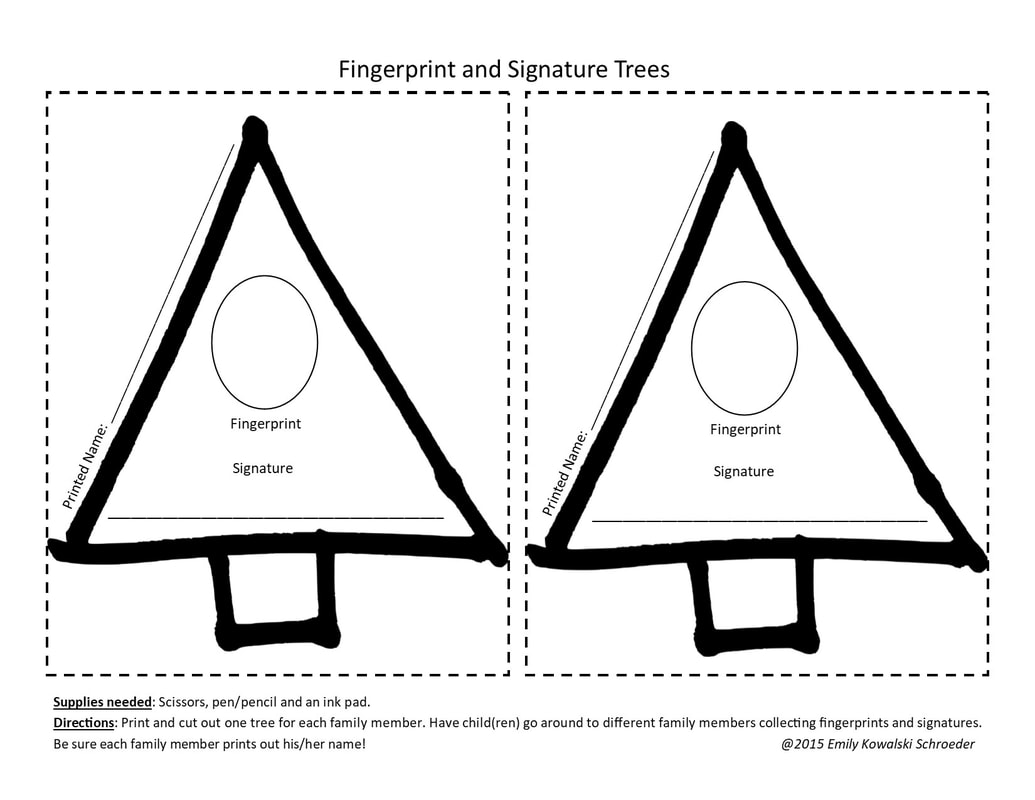 Fingerprint and Signature Trees FREE Printable from GrowingLittleLeaves.com