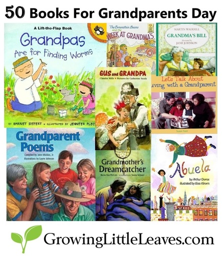50 Books for Grandparents Day from GrowingLittleLeaves.com