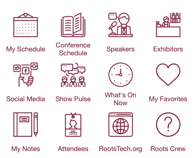 RootsTech Roots Crew Icon in App