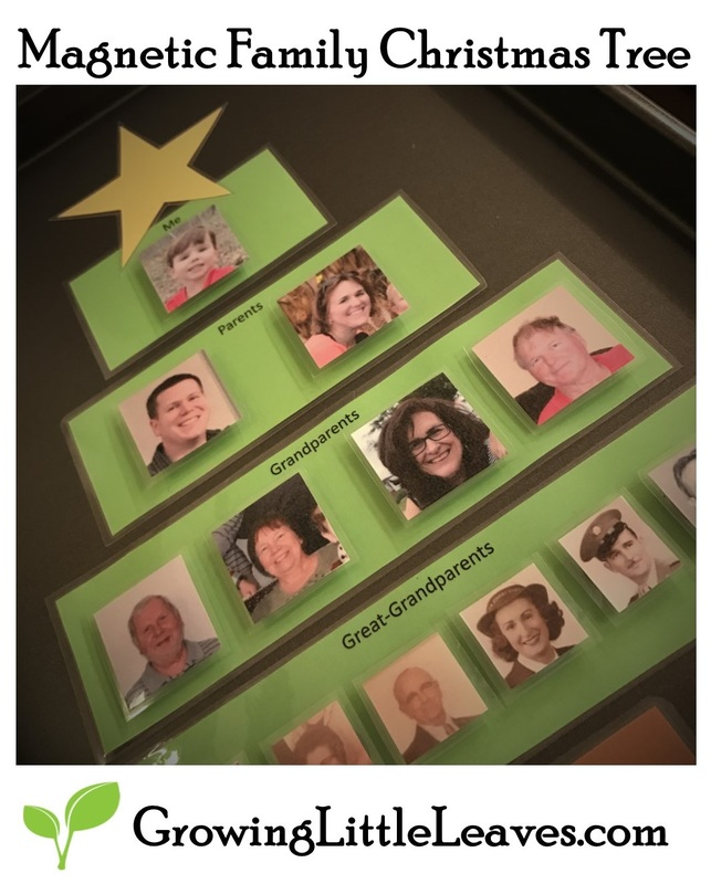 Magnetic Family Christmas Tree from GrowingLittleLeaves.com