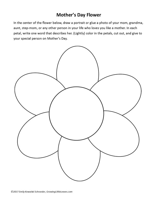 Mother's Day Flower Worksheet from GrowingLittleLeaves.com