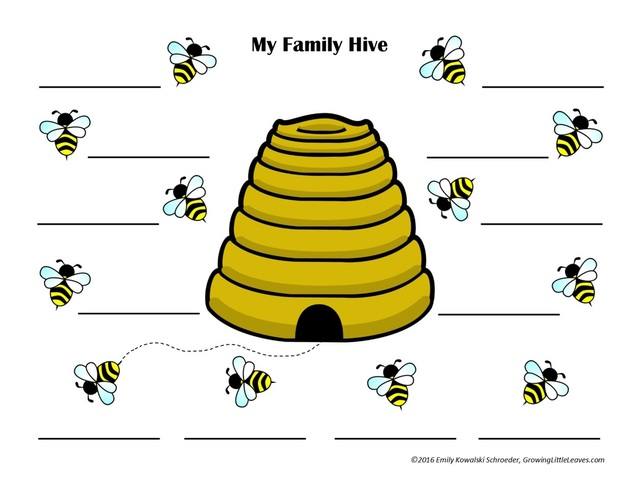 My Family Hive FREE Printable from GrowingLittleLeaves.com
