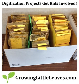How To Work With Local Youth Groups To Accomplish Digitization // GrowingLittleLeaves.com