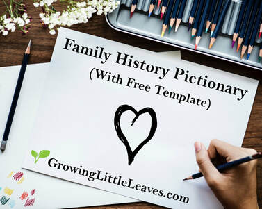 Family History Pictionary // GrowingLittleLeaves.com
