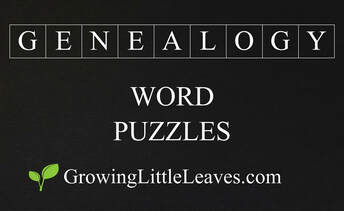 Genealogy Word Puzzles // GrowingLittleLeaves.com