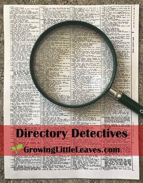 Directory Detectives // GrowingLittleLeaves.com