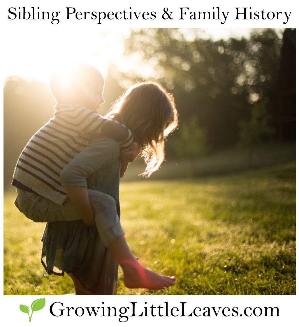 Sibling Perspectives & Family History // GrowingLittleLeaves.com