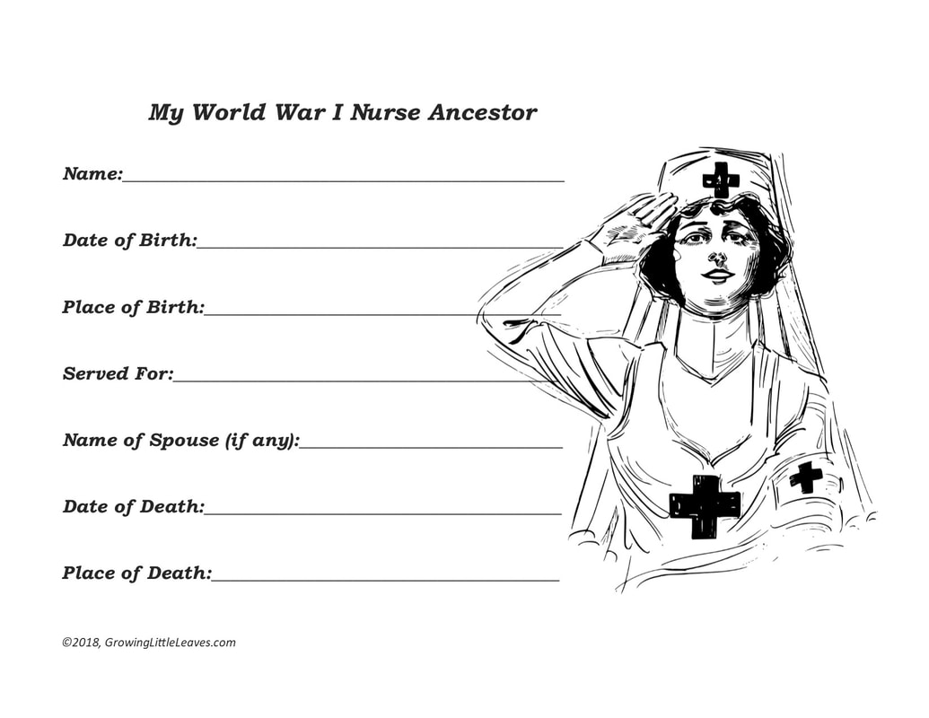 My WWI Nurse Ancestor // GrowingLittleLeaves.com